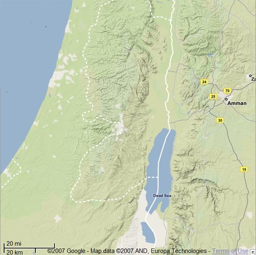 maps of israel in jesus time. Satellite maps are great,