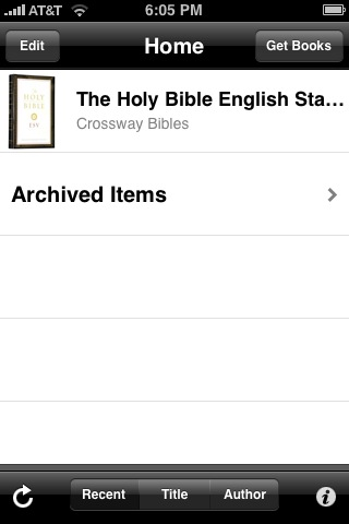 The ESV shows up in the list of available books.