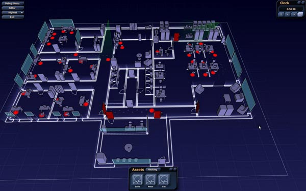 A screenshot from Subversion shows a building's procedurally generated floorplan.