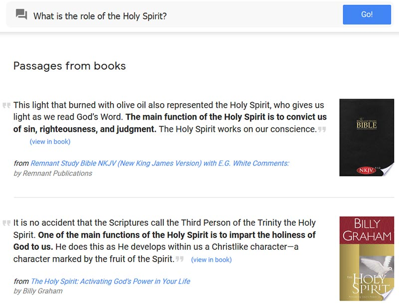 Answers to 'What is the role of the Holy Spirit' include responses from an NKJV study Bible and Billy Graham.