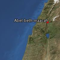 Map of Abel-beth-maacah