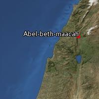 Map of Abel-beth-maacah
