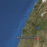 Map of Abel-meholah