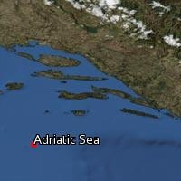 Map of Adriatic Sea
