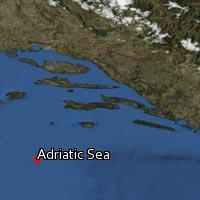 Map of Adriatic Sea