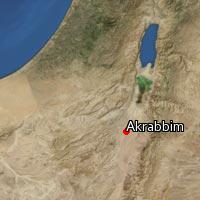 Map of Akrabbim