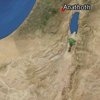 Map of Anathoth