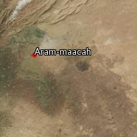Map of Aram-maacah