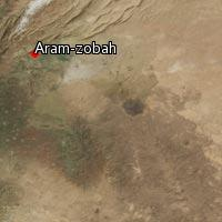 Map of Aram-zobah