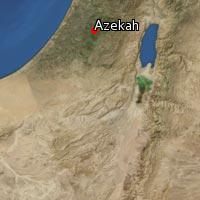 Map of Azekah
