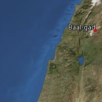 (Map of Baal-gad)