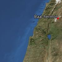 (Map of Baal-hermon)