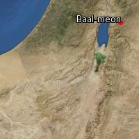 Map of Baal-meon