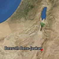 Map of Beeroth Bene-jaakan