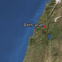 Map of Beth-anath