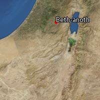 (Map of Beth-anoth)