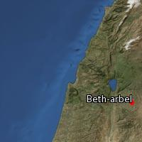 Map of Beth-arbel