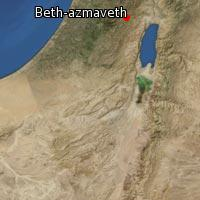 Map of Beth-azmaveth