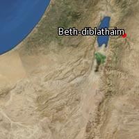(Map of Beth-diblathaim)