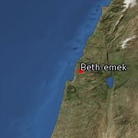 Map of Beth-emek