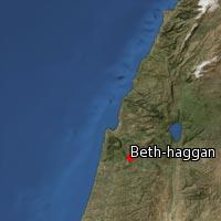 Map of Beth-haggan