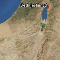 Map of Beth-jeshimoth