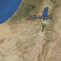 Map of Beth-lebaoth