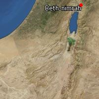 Map of Beth-nimrah