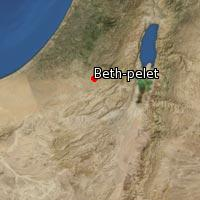 Map of Beth-pelet