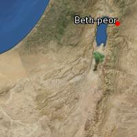 Map of Beth-peor