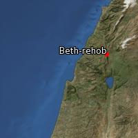 Map of Beth-rehob