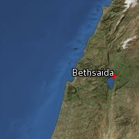 Map of Bethsaida