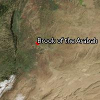 Map of Brook of the Arabah