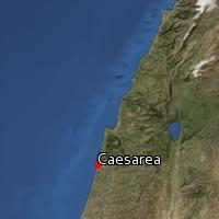 Map of Caesarea