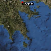 Map of Corinth