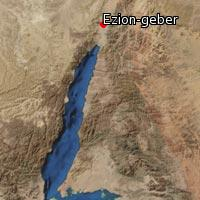 Map of Ezion-geber