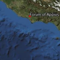 Map of Forum of Appius