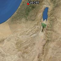 Map of Gezer