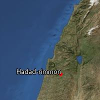 Map of Hadad-rimmon