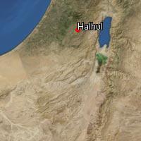Map of Halhul