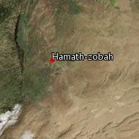 (Map of Hamath-zobah)