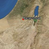 Map of Hazar-shual