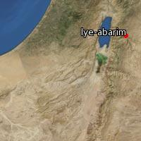 (Map of Iye-abarim)