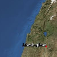 Map of Jabesh-gilead