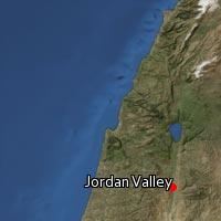 Map of Jordan Valley