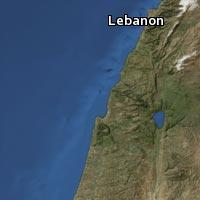 (Map of Lebanon)