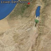 Map of Lower Beth-horon