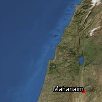 Map of Mahanaim