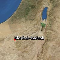 Map of Meribah-kadesh