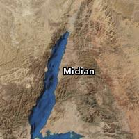 Map of Midian
